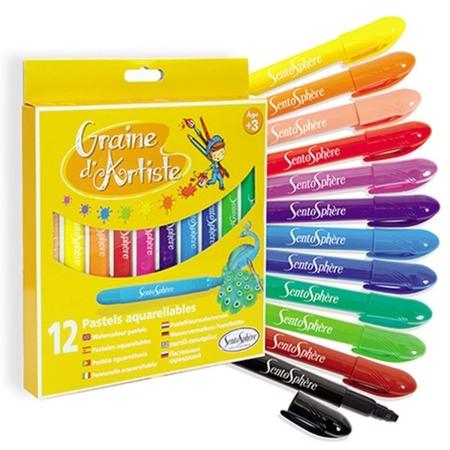 Pastele akwarelowe w długopisie dla dzieci 12 szt. SENTOSPHERE