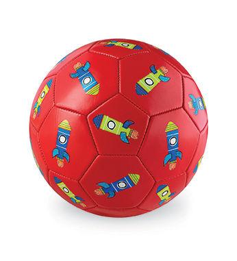 Piłka futbolowa, 5,5'', 14cm, wzór Rakiety, Crocodile Creek