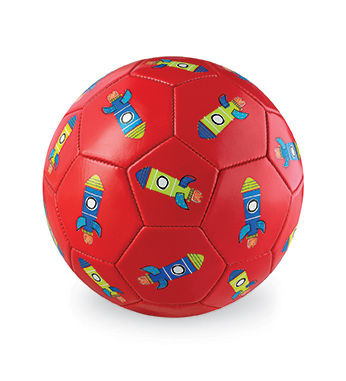 Piłka futbolowa, 7'', 18cm, wzór Rakiety, Crocodile Creek