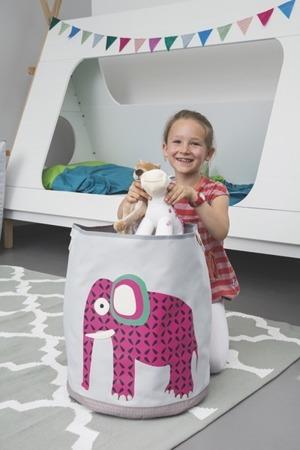 Pojemnik, kosz na zabawki do pokou dziecka Wildlife Słoń, Lassig