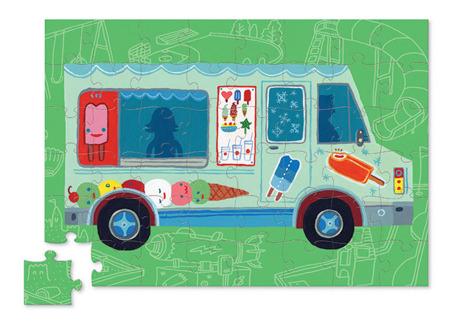 Puzzle Ciężarówka z lodami - puzzle dla dzieci 4 lata+, 48 el. Crocodile Creek