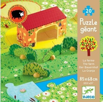 Puzzle Farma - zwierzęta na wsi DJ07160 20 el., 3 lata +, DJECO DJ07160