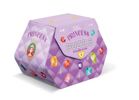 Puzzle Księżniczki - puzzle z akcesoriami księżniczek, 4 lata +, 48 el., Crocodile Creek