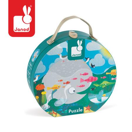 Puzzle OCEAN  w walizce - puzzle dla mniejszych dzieci, układanka z 24 el. 3 lata +, JANOD