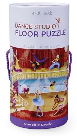 Puzzle Studio Tańca, 60 x 45 cm, 50 el. - kartonowa tuba, Crocodile Creek