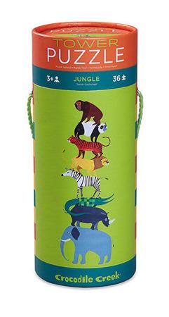 Puzzle dla dzieci - dżungla, dzikie zwierzęta, 36 el. (puzzli), 3 lat +, Crocodile Creek