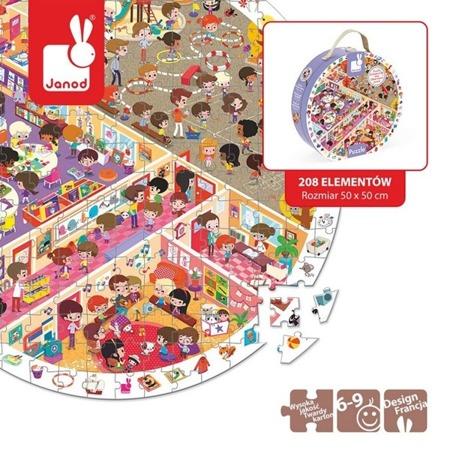 Puzzle obserwacyjne w walizce Szkoła - puzzle 208 elementów dla dzieci 6 lat +, JANOD