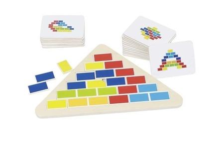 Puzzle segmentowe - układanka logiczna, stopnie trudności, 4 lata +