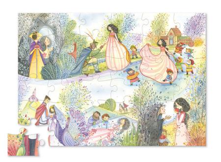 """Puzzle z figurkami - 36 el. motyw """"Królewna Śnieżka"""", Crocodile Creek"""