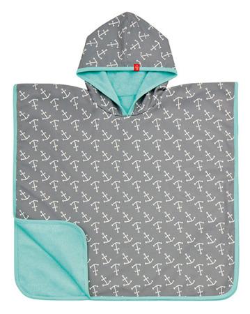 Ręcznik Poncho dla dzieci do kąpieli - ręcznik kąpielowy z kapturem Ship ahoy, Lassig