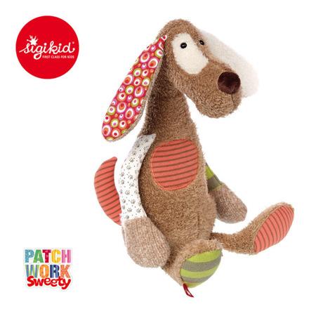 SIGIKID Brązowy pies 40 cm Patchwork Sweety