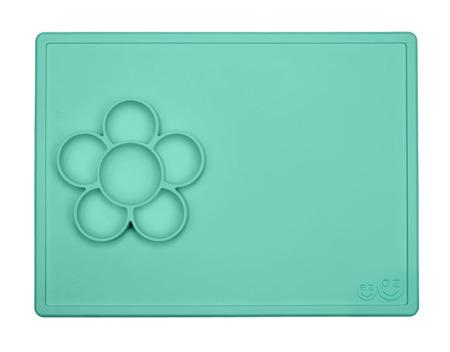 Silikonowa mata do zabawy z pojemniczkami 2w1 Flower Play Mat miętowa, EZPZ  EUPMM001