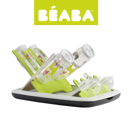 Składana suszarka do butelek i smoczków - ociekacz do akcesoriów niemowlęcych neon, Beaba