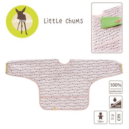 Śliniak - fartuszek z długim rękawem 12m+ Little Chums Mysz, Lassig