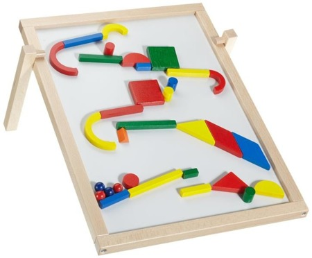 Tablica magnetyczna - układanka drewniana, gra z kulkami, 3 lata +, HABA