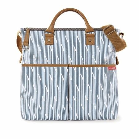 Torba do wózka Duo Special Edition Blueprint Stripe - pojemna torba dla mamy na akcesoria niemowlęce, SKIP HOP