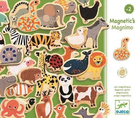 Układanka magnetyczna MAGNIMO zwierzęta, DJECO DJ03124