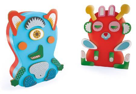 Układanka magnetyczna dla młodszych dzieci 2 lata + - potwory DJECO DJ03081