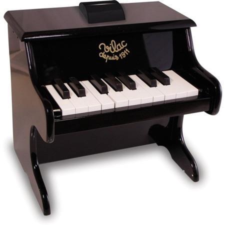 Drewniane pianinko dla dzieci - czarne pianino z wspornikiem na nuty, 3 lata +, VILAC