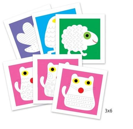 Zestaw do malowania szlaczków dla młodszych dzieci, DJECO DJ08939