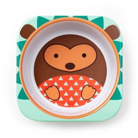 Zestaw jedzeniowy dla dzieci talerz dzielony + miska - naczynia dla maluchów Zoo Jeż, SKIP HOP