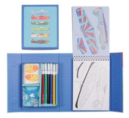 Zestaw kreatywny SAMOLOTY - kolorowanki i składanki dla chłopca, Tiger Tribe TT-60236