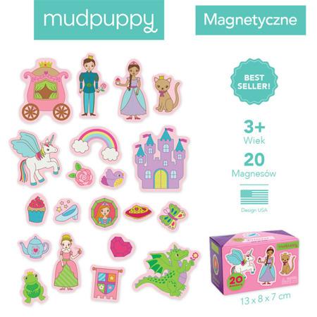 Zestaw magnesów Księżniczka 20 elementów, 3 lata +, Mudpuppy